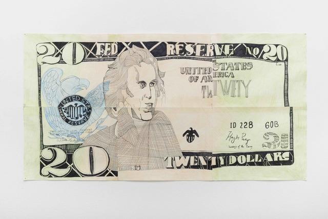 , 'Andrew Jackson (banknote),' 2017, Pilar Corrias Gallery