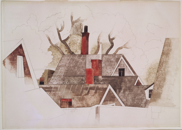 Charles Demuth, 'Red Chimneys', 1918, Phillips Collection