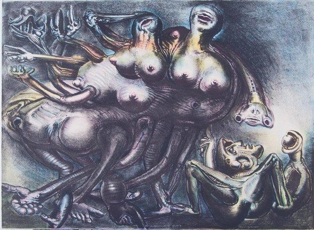 James Gleeson, 'Judgement of Paris V', 1981, Angela Tandori Fine Art