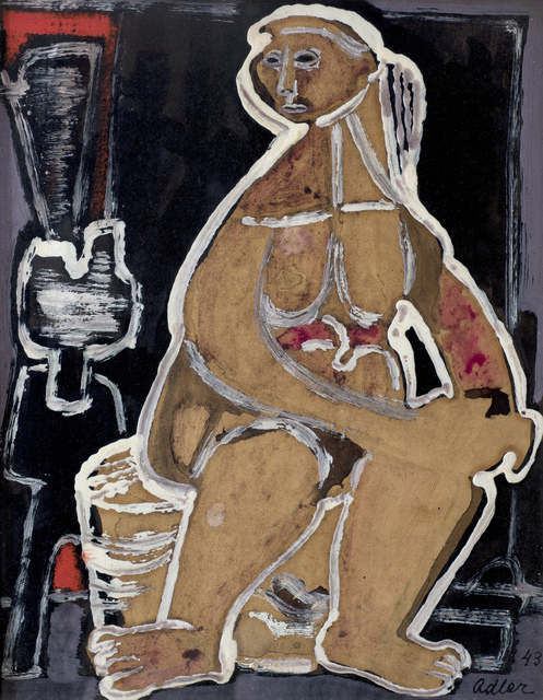 , 'Seated Woman,' ca. 1943, Ben Uri Gallery and Museum