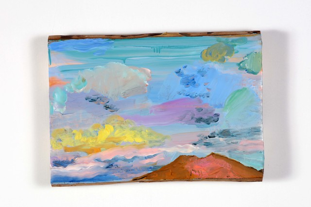 , 'Landscape and Vesuvio with clouds,' 2018, Alfonso Artiaco
