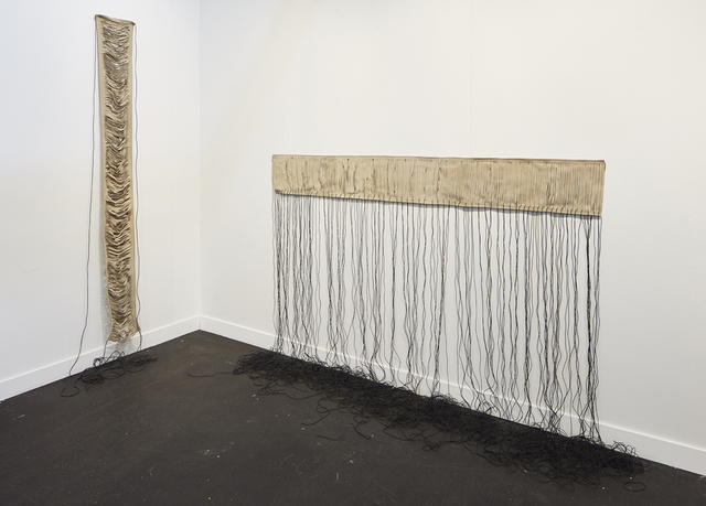 , 'folded back against the pillars,' 2008, kurimanzutto