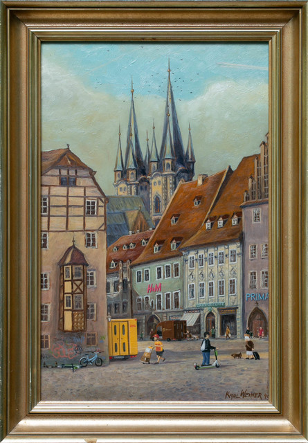 André Schulze, 'Old town', 2020, Painting, Oil on board, Paradigm Gallery + Studio
