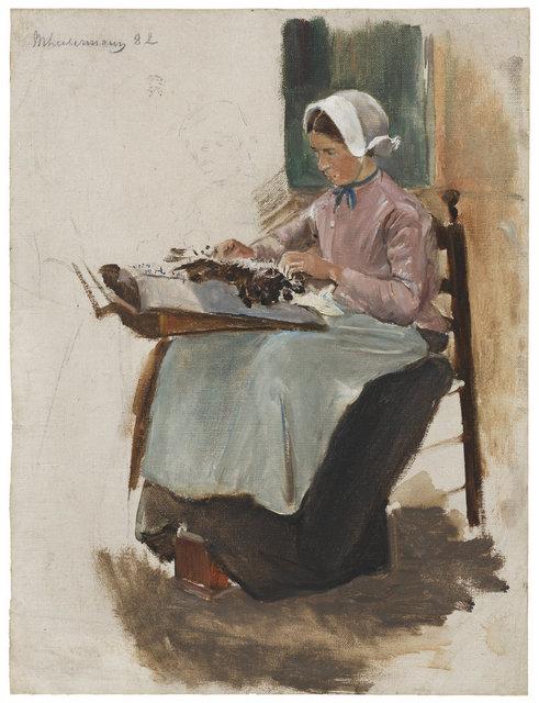 , 'Brabanter Spitzenklöpplerin nach links - Studie,' 1881, Ludorff