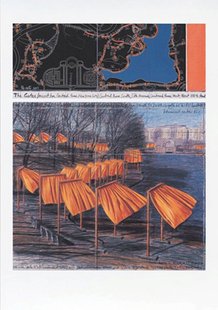 Christo, 'The Gates (m)', 2003, Print, Offset lithograph in colors, michael lisi / contemporary art