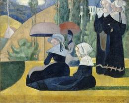 Émile Bernard, 'Breton Women with Umbrellas', 1892, Painting, Oil on canvas, Art Resource