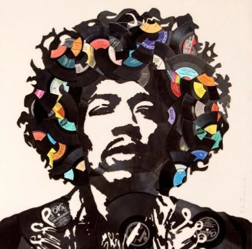 Mr. Brainwash, 'Jimi Hendrix (Broken Records)', 2016, Robin Rile Fine Art
