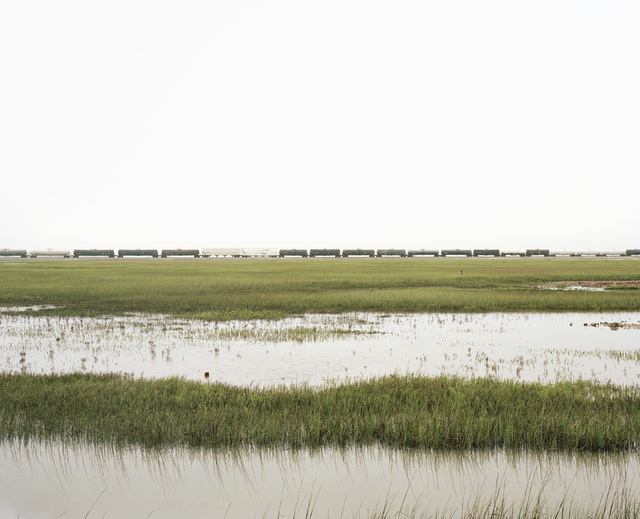 , 'Untitled (Trains Crossing Estuarial Corridor-4), Virginia Point, Texas,' 2015, Yancey Richardson Gallery