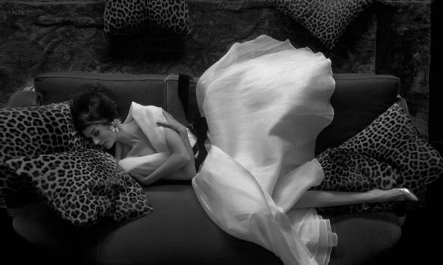 Melvin Sokolsky, 'Look Down: Simone, Harper's Bazaar', 1960, Photography, Gelatin Silver Print, Staley-Wise Gallery