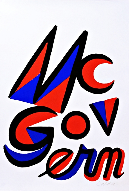 Alexander Calder, 'Vote McGovern', 1972, Alpha 137 Gallery