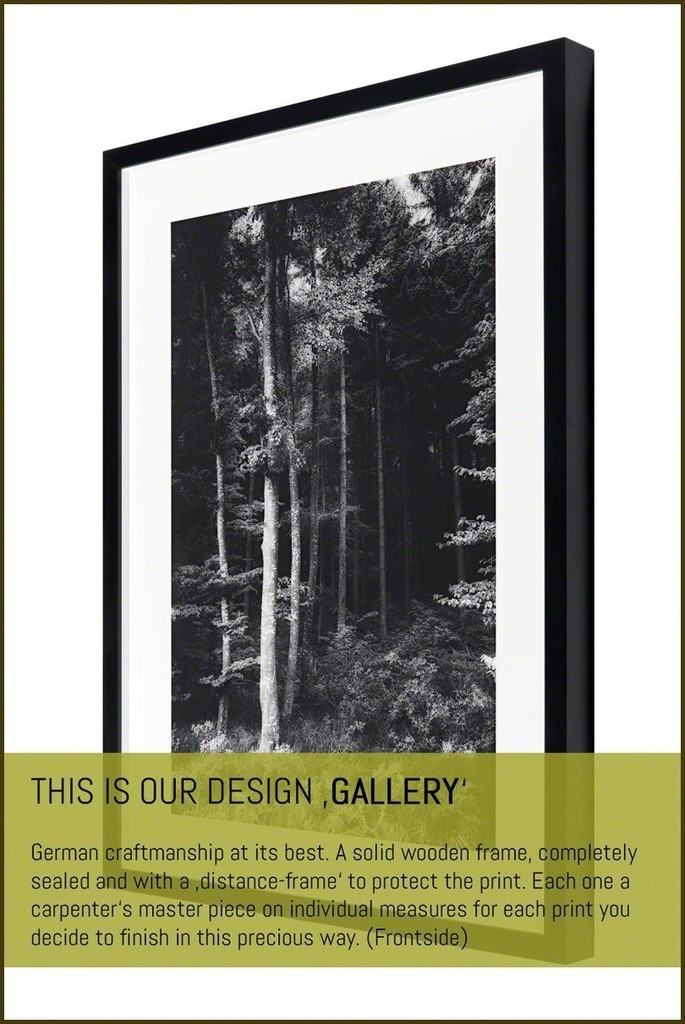 Our framing design 'GALLERY' (frontside). Precious craftsmanship we use for all framing work you order.