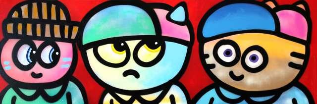 , 'Friends Cha,' 2016, Galerie Art Jingle