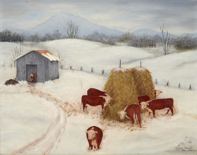 , 'Herefords in the Snow,' 1963, Debra Force Fine Art