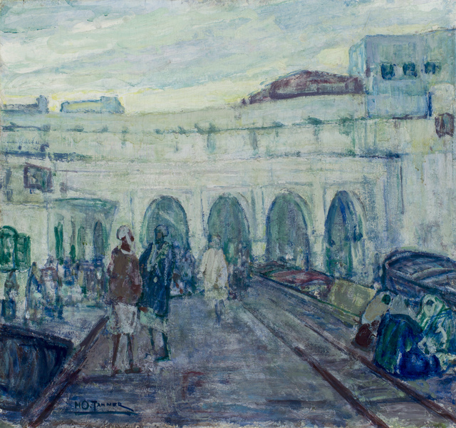 , 'Entrance to the Customs House in Tangier,' ca. 1908, Michael Rosenfeld Gallery