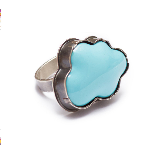 Lisa Crowder, 'Enamel Cloud Blue Ring', 2018, Palette Contemporary Art and Craft