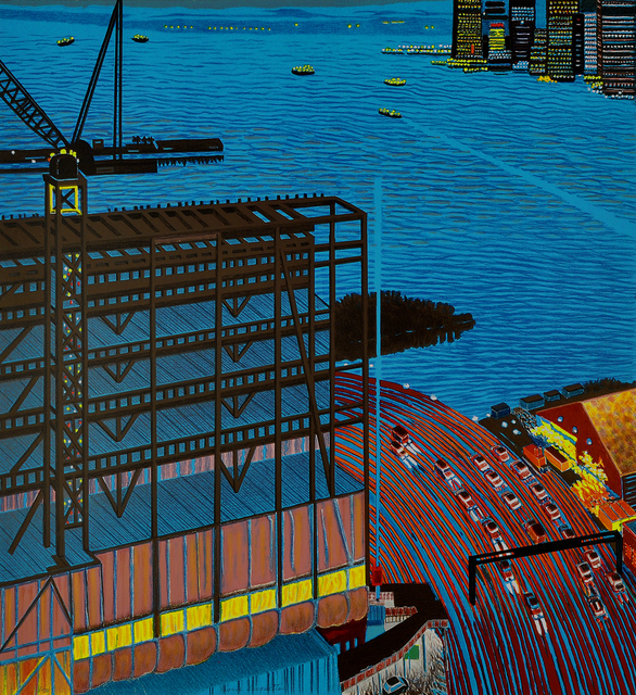 Yvonne Jacquette, 'Whitney Construction at Dusk', 2015, Shark's Ink.