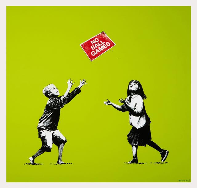 Banksy, 'No Ball Games (Green) - Signed', 2009, Print, Screen print on paper, Hang-Up Gallery