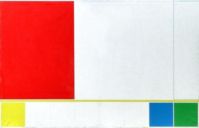 , 'Proposición del cyan al ultramar, rectángulo rojo,' 1985, Henrique Faria Fine Art