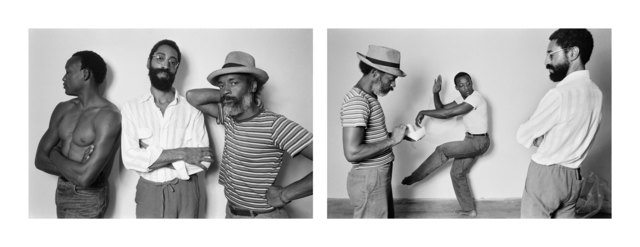 , 'David Hammons, Bill T Jones, Philip Mallory Jones at Just Above Midtown/Downtown Gallery, 1983,' 1983, Rena Bransten Gallery