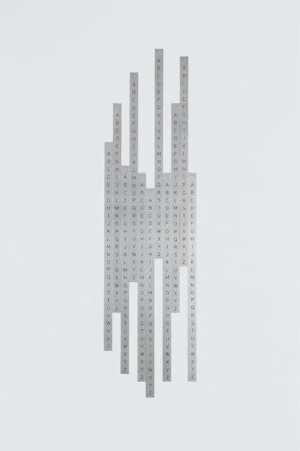 , 'Infrecuente - da série Alfamétrica,' 2010-2014, Galería Vermelho