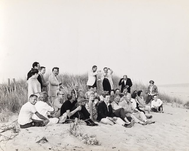 Hans Namuth, 'Spring, East Hampton, L.I. [East Hampton, L.I. abstract artists/painters on the beach]', 1962, Doyle