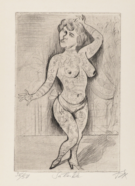 Otto Dix, 'Maud Arizona  (Suleika, The Tattooed Wonder)', 1922, Galerie St. Etienne
