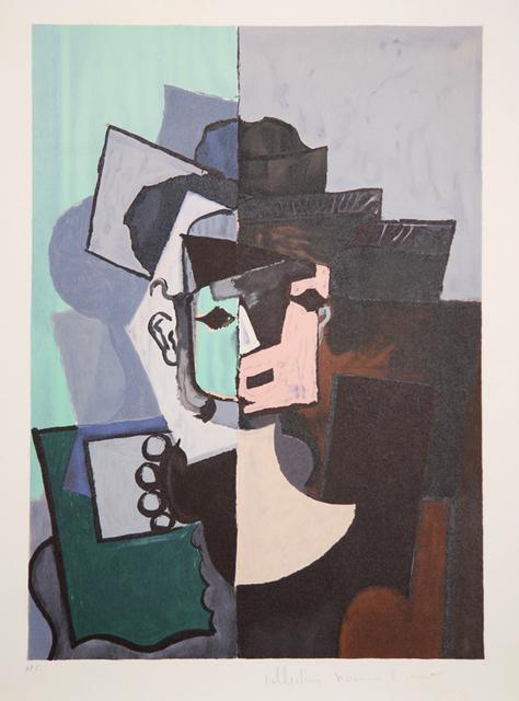 Pablo Picasso, 'Portrait de Face sur Fond Rose et Vert, 1917', 1979-1982, Print, Lithograph on Arches paper, RoGallery