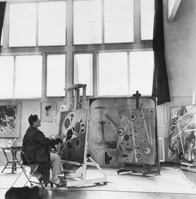 , 'Hilla Rebay in her studio at Franton Court, Greens Farms, Connecticut,' ca. 1946, Guggenheim Museum