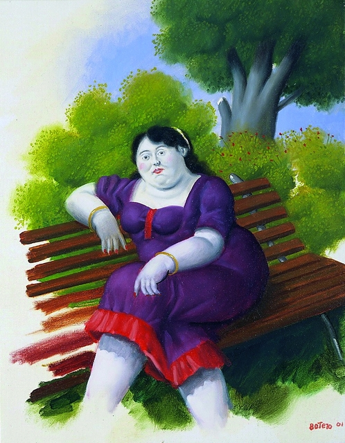 , 'Woman on a Bench,' 2001, Galerie Thomas