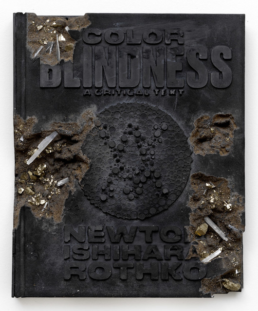 , 'Pyrite and Ash Eroded Colorblindness Book,' 2018, Galerie Ron Mandos