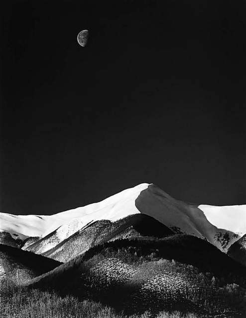 , 'Snow Covered Mountains and the Moon,' , Frogman Art Gallery