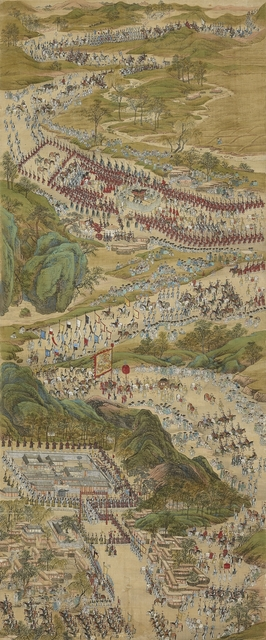 , 'Royal Procession Back to Seoul,' Joseon Dynasty-Late 18th century, Leeum, Samsung Museum of Art
