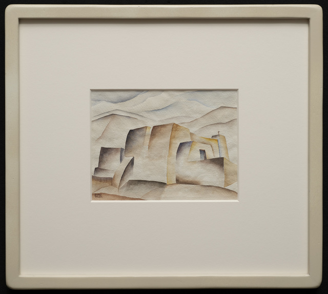 Stuart Walker, 'Ranchos de Taos Church', ca. 1936-39, Drawing, Collage or other Work on Paper, Watercolor on paper, Aaron Payne Fine Art