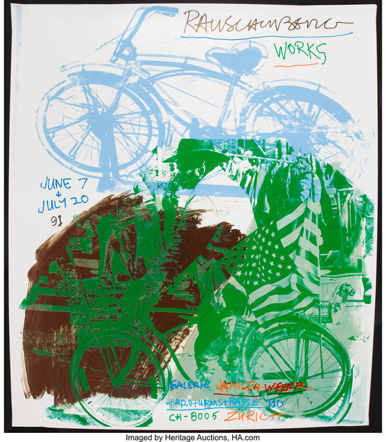 Robert Rauschenberg, 'Rauschenberg Works, exhibtion poster', 1991, Print, Screenprint in colors on smooth wove paper, Heritage Auctions