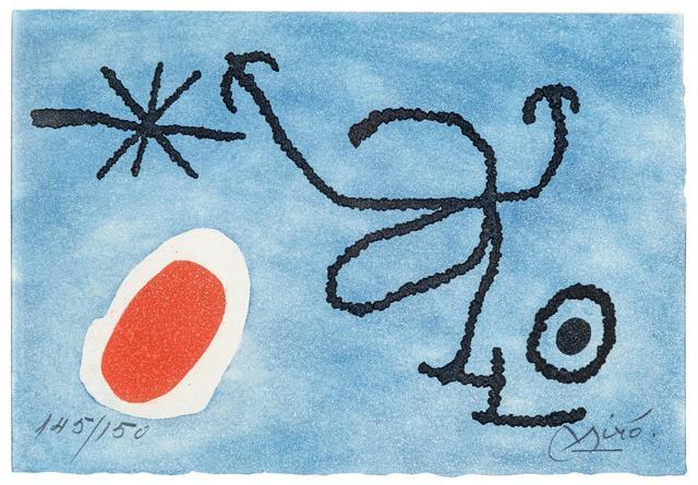 Joan Miró, 'Greeting card from Joan Miro and Pilar Juncosa', 1966, Hindman