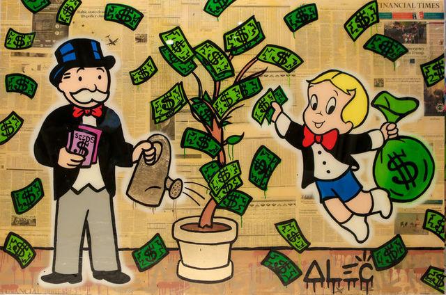 , 'Richie Picking Monopoly Watering $ Tree,' 2018, Eden Fine Art