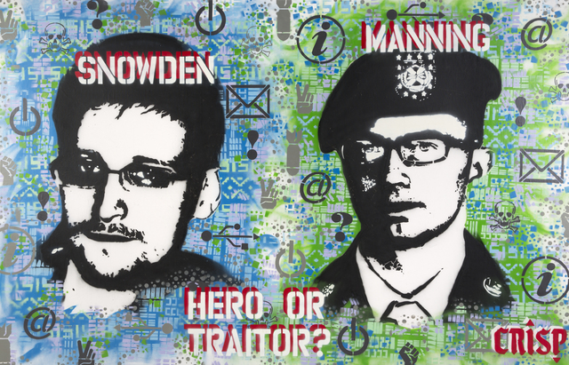 Crisp, 'Snowden, Manning; Hero Or Traitor', 2015, Julien's Auctions