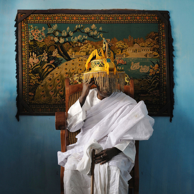 , 'His Majesty Mito Daho Kpassenon, King of Ouidah and Supreme Head of the Voodoo Cult,' 2011, L'agence à Paris