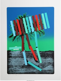 Menashe Kadishman, 'Teal and Red Palm,' circa 1979, Heritage Auctions: Valentine's Day Prints & Multiples