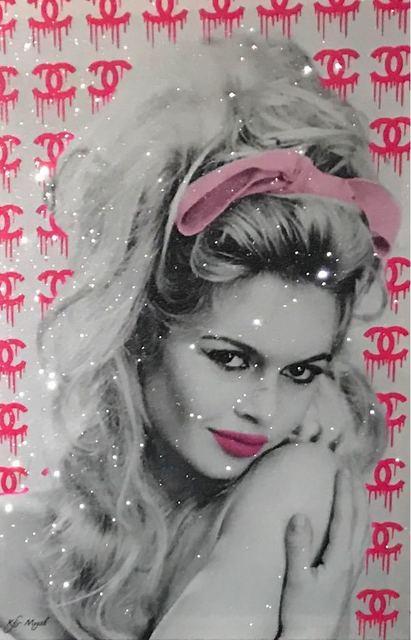 , 'Brigitte Bardot hot pink Chanel background ,' , Eden Fine Art