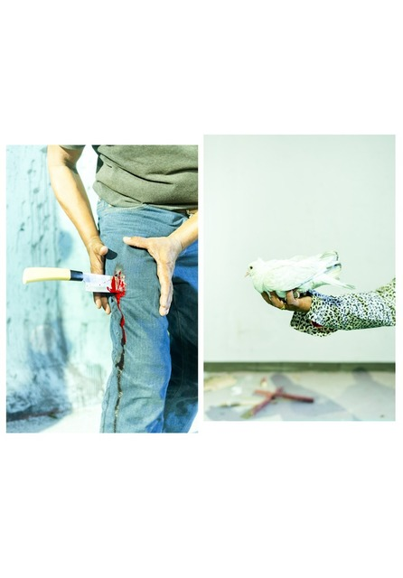, ''Kinife and Bird' from the Series 'Love Me or Kill Me' Diptych,' , East Wing
