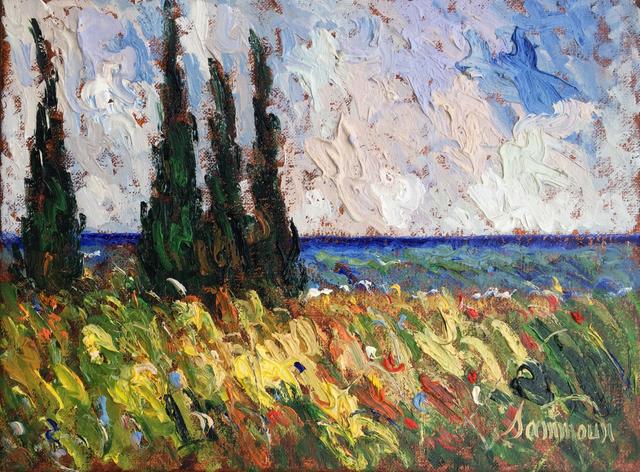 , 'Cypres au bord de la Mediterrannee,' 2017, Galerie d'Orsay