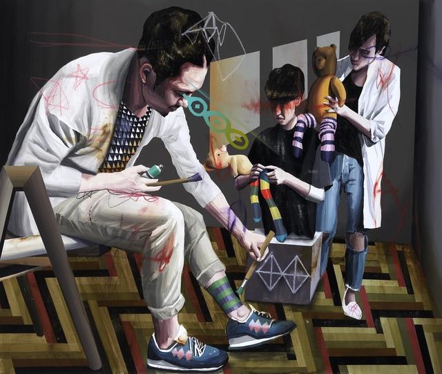, 'Striped Socks ,' 2015, Line Gallery