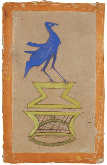 Bill Traylor, 'Construction: Basket with Bird', 1939-1942, Cavin-Morris Gallery