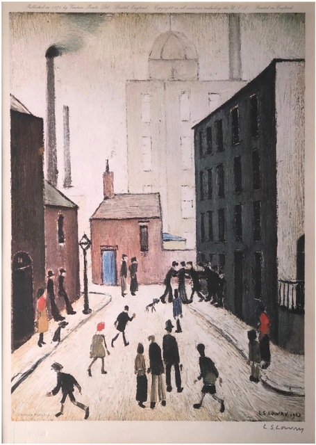 L.S. Lowry, 'Industrial Scene', Published 1974, Canvas Gallery