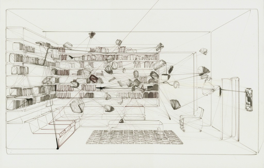 "Analia Saban, ""Outburst: Living Room (One Continuous Line)"" (2015). Courtesy of the artist."