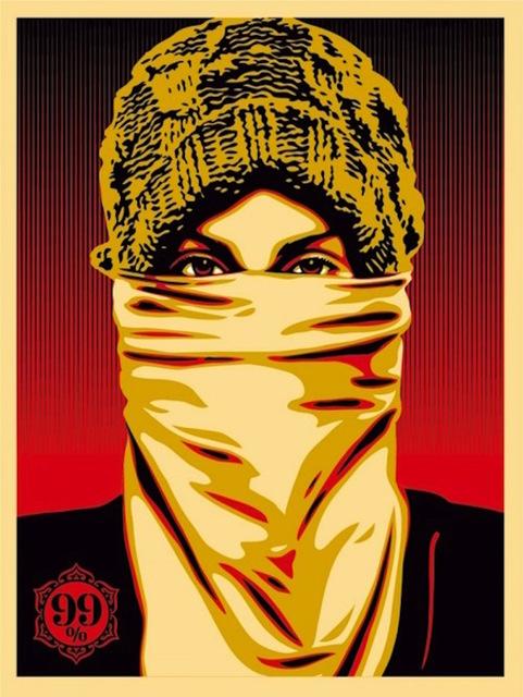 Shepard Fairey (OBEY), 'Occupy Protester', 2012, Gregg Shienbaum Fine Art