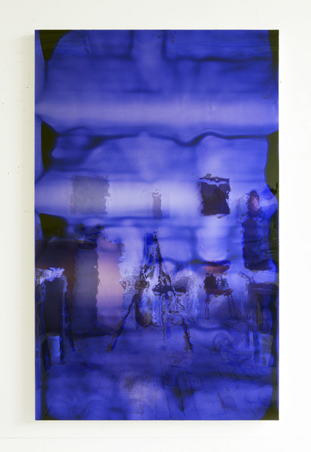 , '72 by 45 (deep blue #2),' 2011, SOCO GALLERY
