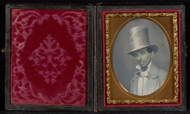 , 'Portrait of a Young Man in a Top Hat,' ca. 1850, J. Paul Getty Museum