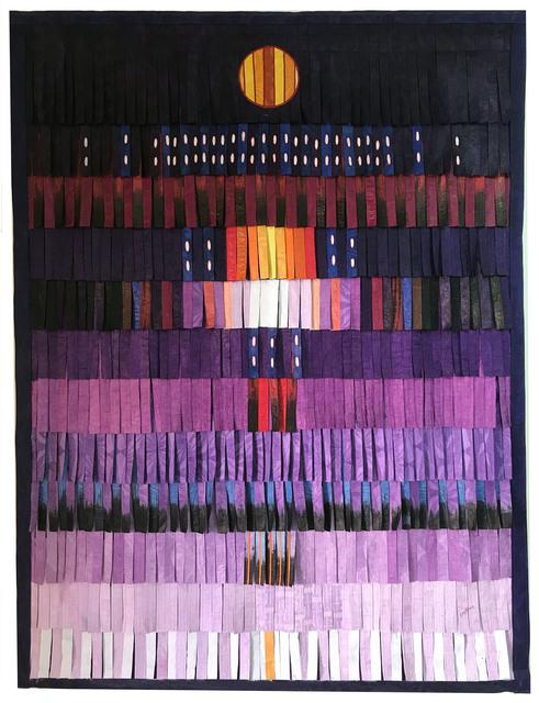 Abdoulaye Konaté, ' Violet au personnage', 2018, Primo Marella Gallery